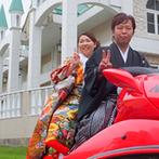 KATSUTAYA(勝田屋記念会館):試着を重ねて運命のドレスを見つけて。様々な衣裳やアイテムを使って撮影できる前撮りを取り入れて正解!