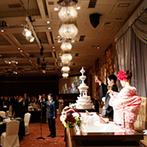 SHIROYAMA HOTEL kagoshima(城山ホテル鹿児島):花々が咲き誇るようなコーディネートでゲストを魅了。豪華な会場をお洒落な和モダンで彩るスタイルに大満足