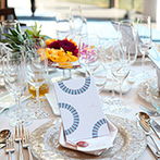 HIROSHIMA MONOLITH(広島モノリス):結婚式のテーマは、大人っぽいマリンスタイル。貸切空間を活かし、ふたりらしくお洒落にコーディネートした