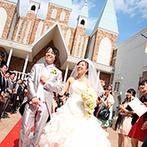 アルファーレ グランシャトー:スケール感のある大聖堂やパーティ空間に心を打たれた。スタッフの丁寧な対応で結婚式のイメージが膨らんだ