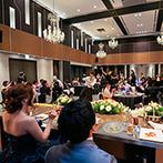 アルカンシエル luxe mariage 名古屋:参加型の演出やプロダンサーによる余興など、ゲストに楽しんでもらうエンターテイメント性あふれるひと時
