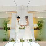 アルカンシエル luxe mariage 名古屋:名古屋駅徒歩5分、ゲストも足を運びやすい好立地。チャペル&パーティ会場、スタッフの雰囲気が良く決定!