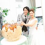 アルカンシエル luxe mariage 名古屋:巨大たこ焼き風ケーキの完成度の高さに全員がびっくり! 清楚に彩った会場で愛情たっぷりのケーキバイトも