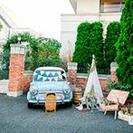Orange Vert(オランジュ:ベール):郊外ならではの自然に囲まれた貸切邸宅はプライベート感が抜群。スタッフの親身な対応も決め手になった