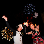 HOTEL GREGES(オテル グレージュ):サンセットからナイトまで楽しみ尽くした一日。「夏の最後の思い出に」と豪華な打ち上げ花火のサプライズも