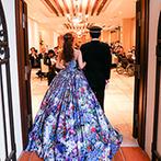 マリーゴールド山口:パーティで衣裳を楽しみ、憧れのドレスはゲストにも大人気!新婦から新郎へバースデーサプライズの演出も