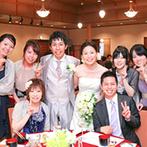 五十嵐邸ガーデン(THE GARDEN HOUSE IKARASHI):ガーデンでの爽やかなウエルカムパーティの後は、家族やゲストとの時間を大切にする披露宴が叶った