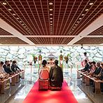 ヴィラ・グランディス ウエディングリゾート FUKUI:ガラス越しの竹林が美しい和モダン神殿に魅了された。おもてなしのリクエストにもスタッフが快諾!