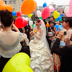 岡山プラザホテル:会場のいたるところに幸せな花が咲く、フラワーWedding。スタッフの協力で、自由度の高い結婚式が叶った!