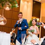 musee yotsuike (ミュゼ四ツ池):海外挙式後の国内パーティは、カジュアルでアットホームに。友人や同僚と気軽にお喋りを楽しみたかった