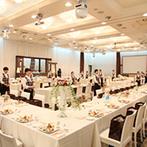 ベルフォーレ松山:今までに見たことがないような披露宴のスタイル。ゲストへの思いから生まれた形はスタッフの努力のおかげ