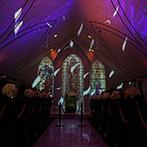 ベルフォーレ松山:幻想的な空間に彩るプロジェクションマッピングの演出は圧巻!開放的なガーデンでアフターセレモニーも満喫