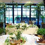 AILE d'ANGE NAGOYA(エル・ダンジュ ナゴヤ):オープンテラスが隣接する落ち着いた雰囲気のレストランで、ゲストが自然と笑顔になれる寛ぎの空間を演出