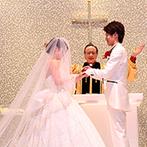「最高の一日」~Wonderful Wedding~:透明感あふれるチャペルで、心に沁みる父の言葉…。アフターセレモニーは、ハートの芝生のガーデンで