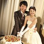 フルーツパーク富士屋ホテル:フルーツ王国、山梨らしいオリジナルケーキが登場。新郎と兄弟によるビールサーブもゲストに楽しまれた