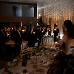 IRIS WATER TERRACE AYAMEIKE:集まってくれたみんなが灯りをリレーしていくキャンドルの演出やデザートビュッフェで、絆を深めた