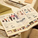 Rouge Blanc(ルージュ:ブラン):タウン誌のようにおしゃれなプロフィール冊子は読み応え十分。 SNSでプレ花嫁たちと幸せの交流をしても