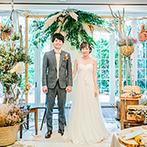 Rouge Blanc(ルージュ:ブラン):パンの装飾やドライフラワーの装花など…新婦のセンスが光るコーディネートでゲストをおもてなし