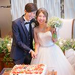 Blanc Beige(ブラン:ベージュ):ペットのフェレット達を描いたケーキに入刀も!美食とおしゃべり、記念撮影を満喫したカジュアルなパーティ