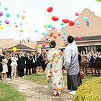 ラ・マーレ プライベートガーデン:チーム一丸となりふたりらしい結婚式に導いてくれた。ガーデン演出が叶ったのは臨機応変なスタッフのおかげ