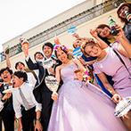 ONE&ONLY ル・グラン・ミラージュ:新婦は『海・リゾート』、新郎は『フェス』。互いの「好き!」がコラボした【海辺のサマーフェス】パーティ