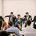 ONE&ONLY ル・グラン・ミラージュ:プロのダンサーとして活躍する新郎らしくゲストを魅了したひと時。プライベートガーデンでの演出も好評!