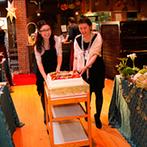サン・レミ・ド・プロヴァンス(山口地ビール):コーディネートやウエディングケーキ、ゲストに配るパンなど、人気映画の愛らしいキャラクターがあちこちに