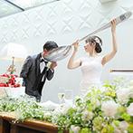 青山フェアリーハウス:料理にこだわるふたりは、演出にもひと工夫。キュートなケーキでダイナミックなファーストバイトも
