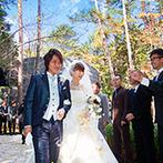 ANELLI 軽井沢(アネーリ 軽井沢):「美しい軽井沢の自然をバックに乗馬演出を」。夢をカタチにしてくれる対応力の高さが一番の決め手になった