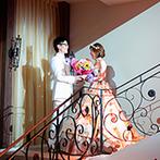 Miel Cloche(ミエルクローチェ):パーティを盛り上げる華やかな階段入場はゲストの注目の的!ゲストの想いを繋ぐキャンドルリレーで幸せ気分