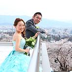 AMANDAN SKY(アマンダンスカイ):満開の桜や地上500mから眺める絶景…。美しいロケーションが自慢のウエディングステージに心を奪われた