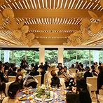 鶴見ノ森 迎賓館:自然の息吹を感じられるチャペル、森の心地よい空気が循環する、プロペラのついた披露宴会場にときめいた