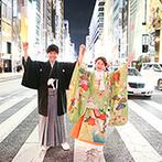 ザ マグナス TOKYO:立地を活かしたロケ撮で非日常感あふれる写真を残そう。同じ会場での二次会で、ゲストの移動の負担軽減も