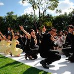 PARK WESTON HOTEL&WEDDING(パークウエストン ホテル&ウエディング):海外挙式のようにブライズメイド&グルームズマンが登場。ノリノリのダンスで笑顔のガーデンウエディングに