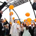 白金倶楽部~SHIROGANE CLUB~:お互いの愛を深める特別な日、「オレンジデイ」がテーマ。屋上ガーデンでバルーンリリースも満喫!