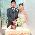 グランダルシュ ウエディングヒルズ(GRANDARCHE WEDDING HILLS):新婦が大好きなショートケーキをパティシエがビッグサイズで再現!ふたりが吟味した逸品揃いのおもてなし