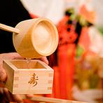 フォーチュン ガーデン 京都(FORTUNE GARDEN KYOTO):新郎の祖父母&父母、ふたりの結婚式が重なった記念日。和装での鏡開きや振る舞い酒でますます祝福ムードに