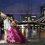 キュイジーヌ フランセーズ ラ・シャンス:自然光があふれるチャペルの透明感にうっとり…。街のランドマークパークを望むガラス張りの空間が決め手