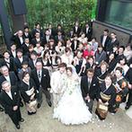 ORIENTAL KYOTO SUZAKU-TEI 朱雀邸:パーティが始まる前の生演奏やガーデンでのデザートビュッフェで、ゲストに寛ぎの時間をプレゼント