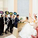 ORIENTAL KYOTO SUZAKU-TEI 朱雀邸:親子・夫婦の絆を深める瞬間が、ゲストの心にも刻まれた。友人たちの協力で、新郎へのサプライズも大成功