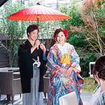 ORIENTAL KYOTO SUZAKU-TEI 朱雀邸(オリエンタル京都朱雀邸):プロによるビデオ撮影で、一生の思い出をカタチに残そう。挙式後の演出は、全員参加型で盛り上げて