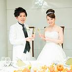 アヴァンセリアン東京(AVANCER LIEN TOKYO):季節のイベントにちなんだ会場コーディネートで秋らしく!和洋選べるおもてなし料理がゲストの間で話題に