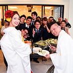 NIHO:開放的なオープンテラスで料理を振る舞い、ゲストとのふれあいも満喫!デザートビュッフェも大人気