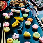 YOKKAICHI HARBOR 尾上別荘:和洋のスイーツを盛りこんだデザートビュッフェには楽器型の練りきりも!遊び心が満載の美味しいおもてなし