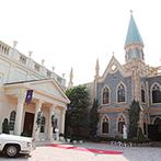セント・パトリック教会:「厳粛な教会式」という夢が叶う独立型大聖堂に心を奪われた。白を基調としたバンケットも魅力的で即決!