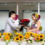 Monterfare(モンテファーレ):妹&弟からの祝福の手紙、新郎から新婦への花束のプレゼント…。サプライズと感動をちりばめたパーティに