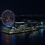 YOKOHAMA MONOLITH(横浜モノリス):「大好きなみなとみらいの夜景を望む場所で結婚式がしたい」。ふたりの思いを叶えるパーティ会場が決め手