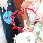 ピアザ デッレ グラツィエ:テーマは、ゲストとの繋がりに感謝する「糸」。一つひとつの花やBGMにも、メッセージや思いを込めた