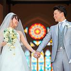 ラヴィール金沢:大聖堂に一歩足を踏み入れた瞬間、感動した新婦の目から涙が。スタッフの多彩な提案力も決め手となった