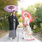 奈良町 あしびの郷:緑豊かなナチュラルな雰囲気は、ふたりの理想通り。1日1組貸切にできることや親身なスタッフの対応も決め手
